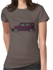 Vectored Boxcar Black Cherry Womens Fitted T-Shirt