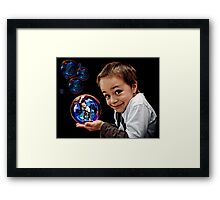 Bubble Boy Framed Print
