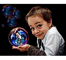 Bubble Boy Photographic Print