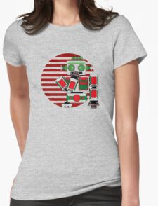 Robot Is Tired Womens Fitted T-Shirt