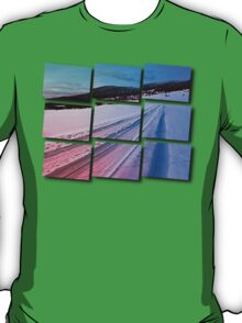 Path up to the mountains in winter time | landscape photography T-Shirt