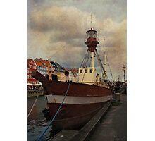 Old boat at Nyhavn, Copenhagen Photographic Print
