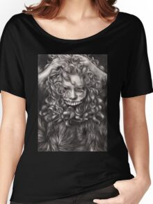 girl, invisible monsters Palahniuk, horror, face, dark, eyes Women's Relaxed Fit T-Shirt