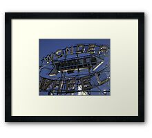 "Vintage ""Wonder Wheel Thrills"" sign at the Astroland amusement park at Coney Island  Framed Print"