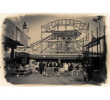 People at Coney Island by the Wonder Wheel  Photographic Print