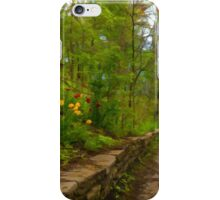 Dreamy Forest Road With Flowers - Impressions Of Spring iPhone Case/Skin
