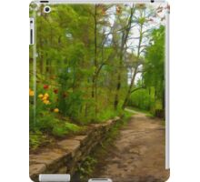 Dreamy Forest Road With Flowers - Impressions Of Spring iPad Case/Skin