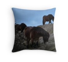 Horses of Dover Throw Pillow