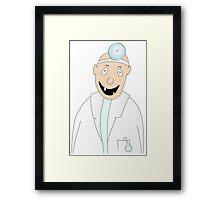 happy dentist Framed Print