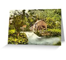 The Old Mill, Ashford, Derbyshire - all products Greeting Card