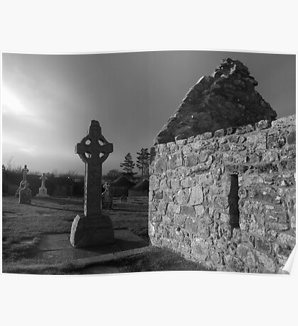 Clonmacnoise cemetery Poster