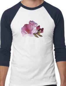 Cherry Blossom and Buds Men's Baseball ¾ T-Shirt