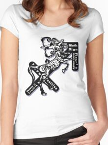 Sagittarius star sign  Women's Fitted Scoop T-Shirt