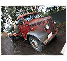 Truck in the Mud Poster