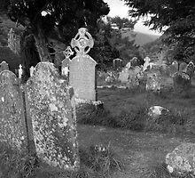 Glendalough graveyard by John Quinn