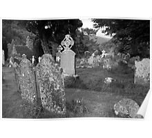 Glendalough graveyard Poster