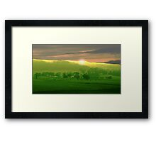 High Plains Sunrise Framed Print