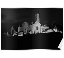 Quin Abbey night view Poster