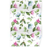 Floral pattern. Watercolor Poster