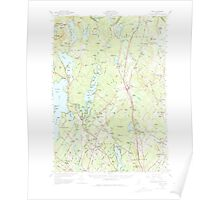 Maine USGS Historical Map Gray 460451 1957 62500 Poster