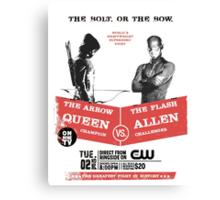 Arrow vs Flash TV shows Canvas Print