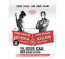 Arrow vs Flash TV shows Poster