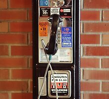 Vintage NYC street telephone by Reinvention