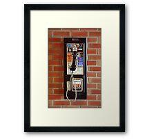 Vintage NYC street telephone Framed Print