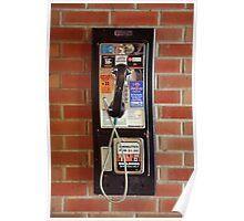 Vintage NYC street telephone Poster