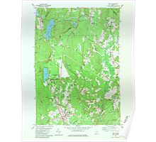 Maine USGS Historical Map Gray 806731 1980 24000 Poster