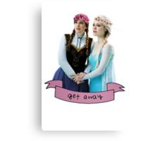 Anna & Elsa Canvas Print