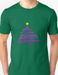 Scribble Purple Christmas Tree T-Shirt