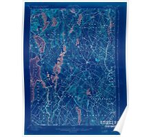 Maine USGS Historical Map Gray 807514 1898 62500 Inversion Poster