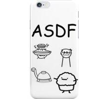 ASDF Trains Pie Turtle Muffin  iPhone Case/Skin