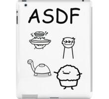 ASDF Trains Pie Turtle Muffin  iPad Case/Skin