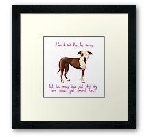 Champion the Three-Legged Dog Framed Print