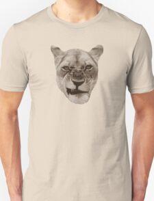 Annoyed Snarling Lion Cat Unisex T-Shirt