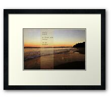winter beach Framed Print