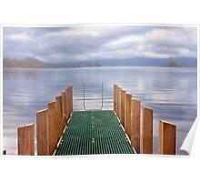 Misty Morning - Lake Pedder, Tasmania Poster