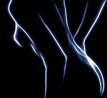 Nude in Blue Light by Mikhail Palinchak