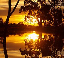 Mirrored Sunset by Clive