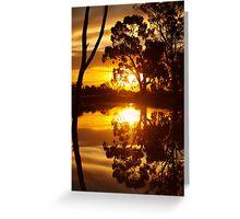 Mirrored Sunset Greeting Card