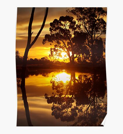 Mirrored Sunset Poster