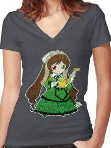 Chibi Suiseiseki Women's Fitted V-Neck T-Shirt
