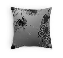 ZEBRA MOLD Throw Pillow