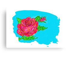 Digitally painted rose Canvas Print