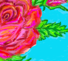 Digitally painted rose Sticker