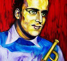 Portrait of Boris Vian by Lydia Cafarella