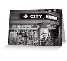 City Hatters Greeting Card