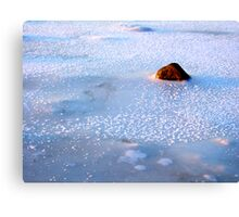 A freezing stone Canvas Print